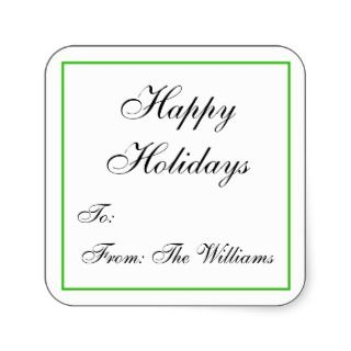 Personalized Christmas Gift Tag Stickers