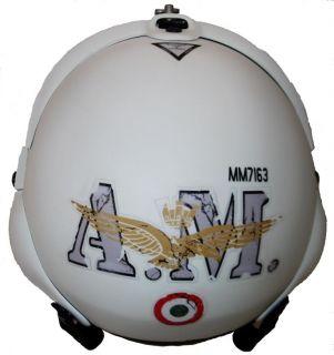 casco pilota TORNADO AERONAUTICA MILITARE Vintage White