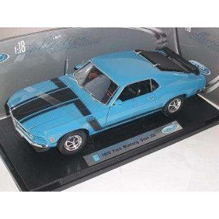 FORD MUSTANG BOSS 302 BLAU TUNING 1970 BLUE METALLMODELL 1/18 WELLY