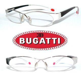 ETTORE BUGATTI BRILLE 373 22Kt. WEISS GOLD ORIGINAL TEAKHOLZ GLASSES