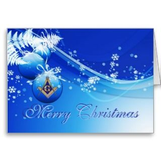 Personalize Masonic Christmas Greetings Greeting Card