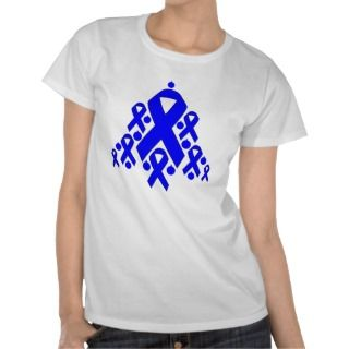 Colon Cancer Christmas Ribbon Tree Tshirt