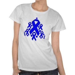 Colon Cancer Christmas Ribbon Tree Tshirt