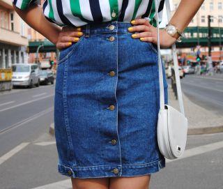 Shanty VEB Jugendmode Rostock BECON Jeans DDR Rock Skirt True Vintage