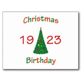 1923 Christmas Birthday Post Cards