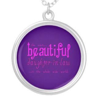 Birthday Party Christmas Beautiful Daughter in Law Pendant