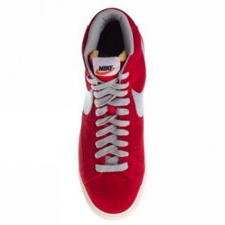 Nike Blazer Mid Prm Vntg Suede [41  us 8] Rot Grau Schuhe Herren Neu