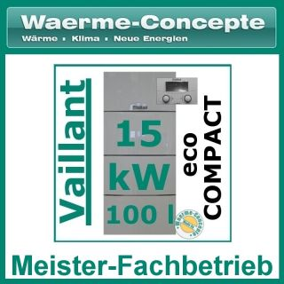 Vaillant ecoCompact VSC 126/3 5 15 Gas Brennwert Heizung Gasheizung