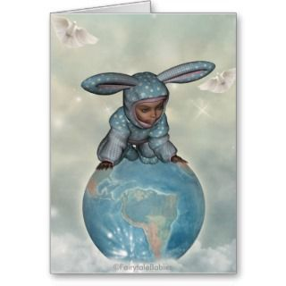 Baby crawl bunnies save the earth 1 card