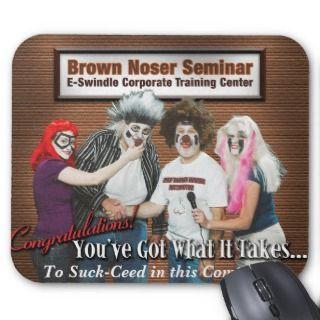 Brown Noser Seminar Greeting Card