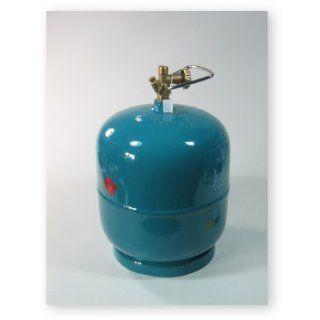 Leere befüllbare Gasflasche 3 kg Propan Butan Gas Garten