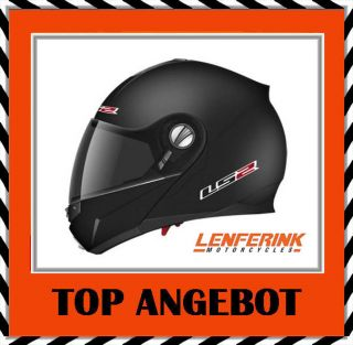 A500 LS2 FF386 Ride Klapphelm schwarz matt Gr M Motorradhelm Motorrad