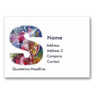 CHRISTMAS S LETTER / SANTA PLAYING HARP BUSINESS CARDS