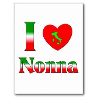 Love Nonna (Italian Grandmother) Post Card