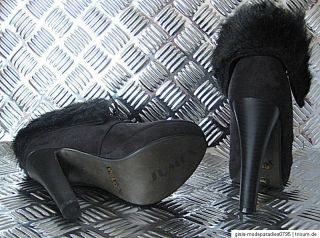 HIGH HEELS Stiefel Stiefelette Schwarz Pumps Ankle Boots 35 36 37 38