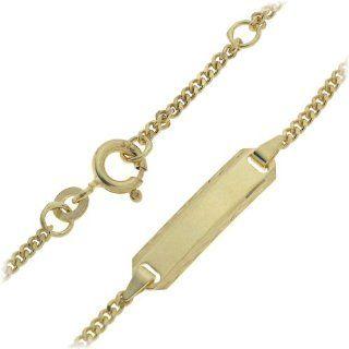 Schmuck Pur 333/  Gold Baby Armband mit Gravurplatte