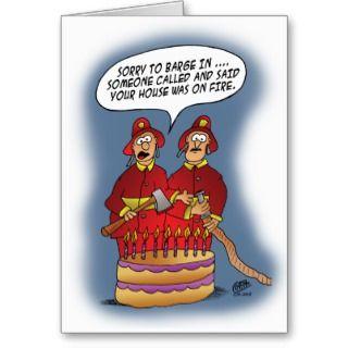 Funny Birthday Cards: Fire Alarm