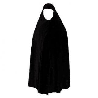 Knielange Khimar SCHWARZ Muslim Islamische Kleidung 10 3001: