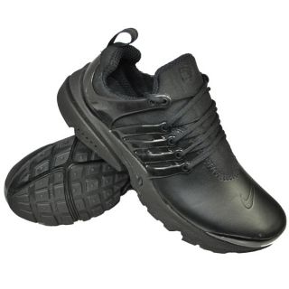 Nike Air Presto Leather Running Trainers Black Mens Size
