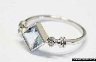 Antik 585er Gold Ring + echter Aquamarin + echte Diamanten