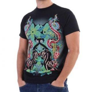 Ed Hardy T Shirt Men   Panther Jumping   Schwarz