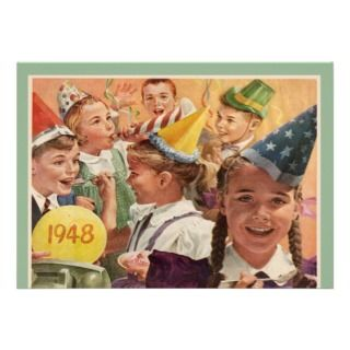 Retro 65th Birthday Party 1948 Childhood Memories Invites
