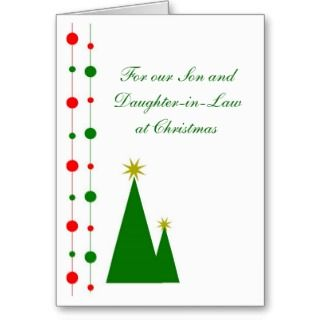 Son And Daughter in Law Christmas Card Christmas T