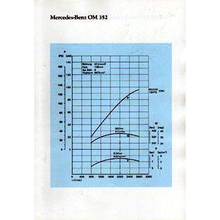 Mercedes Benz Motor OM 352 Einzelprospekt Technische Daten