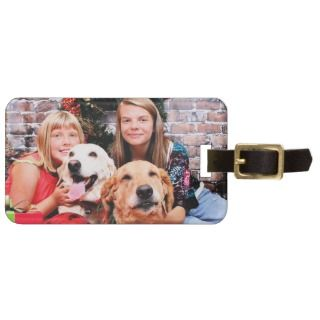 Christmas   Labrador Ally   Golden Wrigley Travel Bag Tags