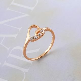 Goldschmuck 750/18K Rose gold vergoldet Zirkonia Ring #1019.8x62.2mm
