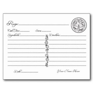 Personalized Christmas Recipe Card Food Rating Postcards