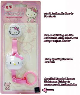 Sanrio Rosa Baby Hello Kitty Schnuller Band Schnullerkette