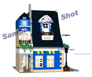 Alpine Village Cafe, corner modular Instructions CD PDF Custom Lego