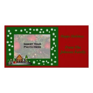 Christmas Holiday Girl Elf Scene Photo Card