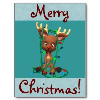 Christmas Rudolph the Red Nosed Reindeer Postcards