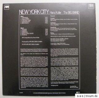 Hans Koller The Big Band   New York City Lp MPS