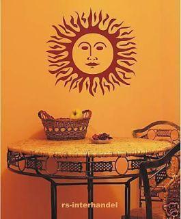 Neu 441 Wandtattoo Wandbilder Aufkleber Wanddeko Sonne ca. 54cm x 54cm