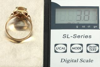 GELEGENHEIT AUS PRIVATBESITZ #427 NEUWERTIGER RING GOLD 585 MIT