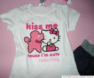 Neu C&A Hello Kitty 2tlg.Set*74/80*T Shirt + Jeans Hose**Neu + Etikett