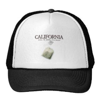 San Diego California Tea Party Trucker Hats
