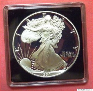 American Silver Eagle 1991 1 Oz Unze Silber PP One Dollar Liberty USA