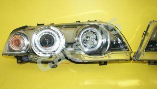 BMW E46 Limo/Tour Scheinwerfer Angel Eyes Chrom 98 01