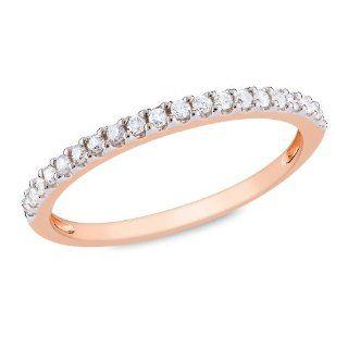 10 Karat Roségold Eternity Ring mit Diamanten (0,2 Karat, G H, I3)