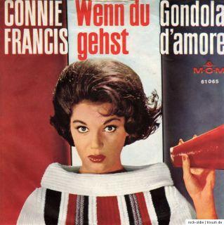 CONNIE FRANCIS   Wenn du gehst / Gondola damore 7