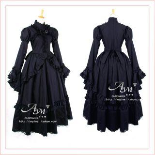 Gothic Lolita lange Kleid Maßegeschneidert G435