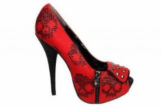 Iron Fist Ruff Rider Damen Rote Pumps Schuhe & Handtaschen