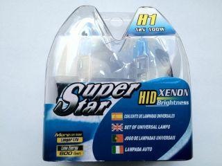 H1 12V 100W Xenon Super Star ECHTE 8500K Birne Halogen blau