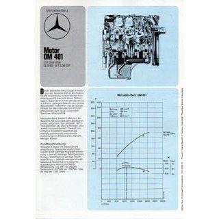 Mercedes Benz Motor OM 401 mit Getriebe Original Typenblatt