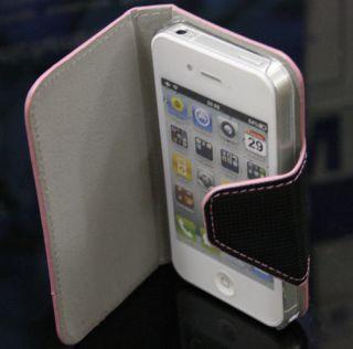 iPhone 4 4G 4S Book Style Handy Leder Tasche Leather Case Hülle Etui