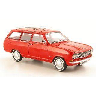 Opel Kadett B Caravan, rot, 1971, Modellauto, Fertigmodell, Neo 143